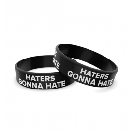 Wristband opaska sportowa 003 - HATERS GONNA HATE