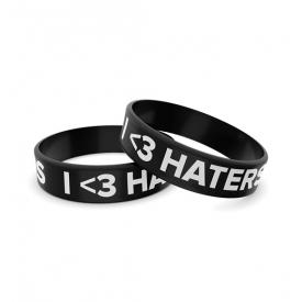 Wristband opaska sportowa 004 - I LOVE HATERS