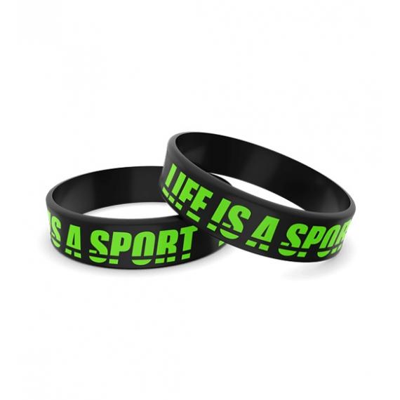 Wristband opaska sportowa 006 - LIFE IS A SPORT