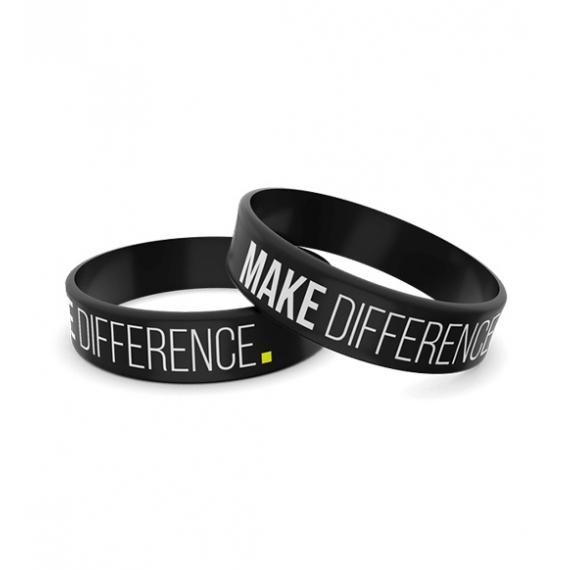 Wristband opaska sportowa 007 - MAKE DIFFERENCE