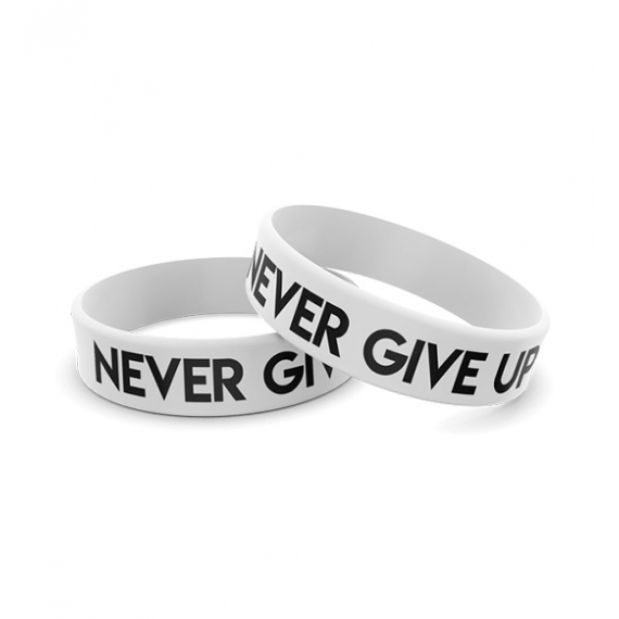Wristband opaska sportowa 009 - NEVER GIVE UP