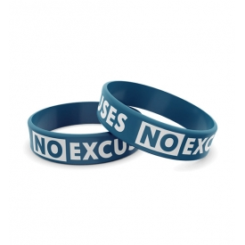 Wristband Silikonowa 011 - NO EXCUSES