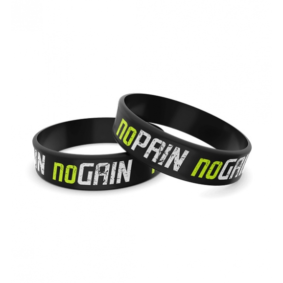 Wristband Silikonowa 012 - NO PAIN NO GAIN