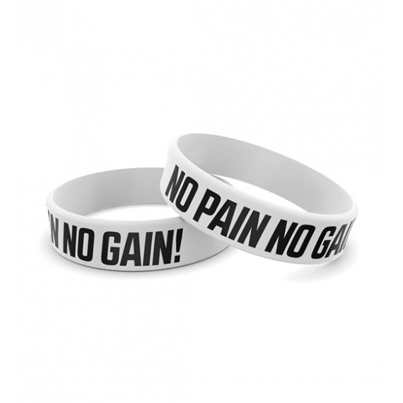 Wristband Silikonowa 013 - NO PAIN NO GAIN
