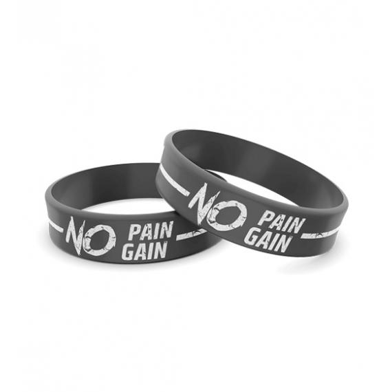 Wristband Opaska Silikonowa 014 - NO PAIN NO GAIN
