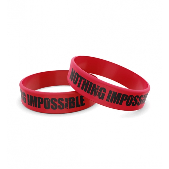 Wristband Silikonowa 015 - NOTHING IMPOSSIBLE