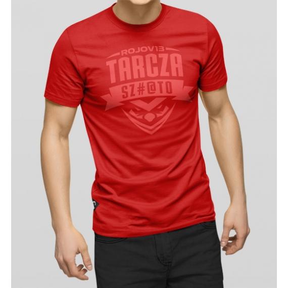 """T-Shirt """"Tarcza Szmato"""" Czerwony"""