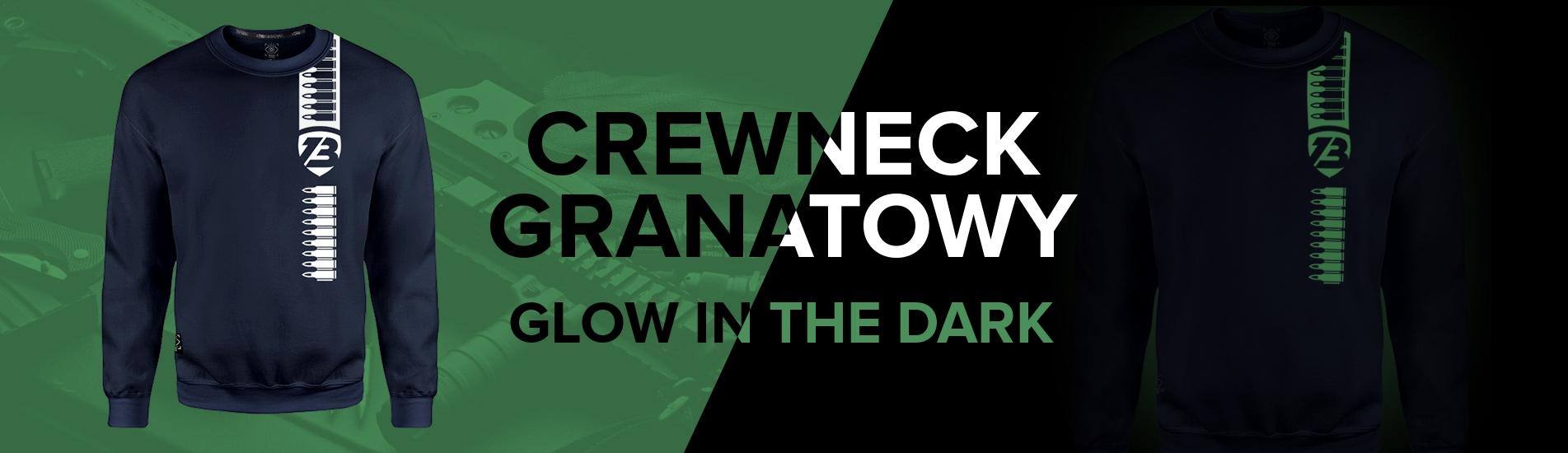 Crewneck 001 Glow - Granatowy